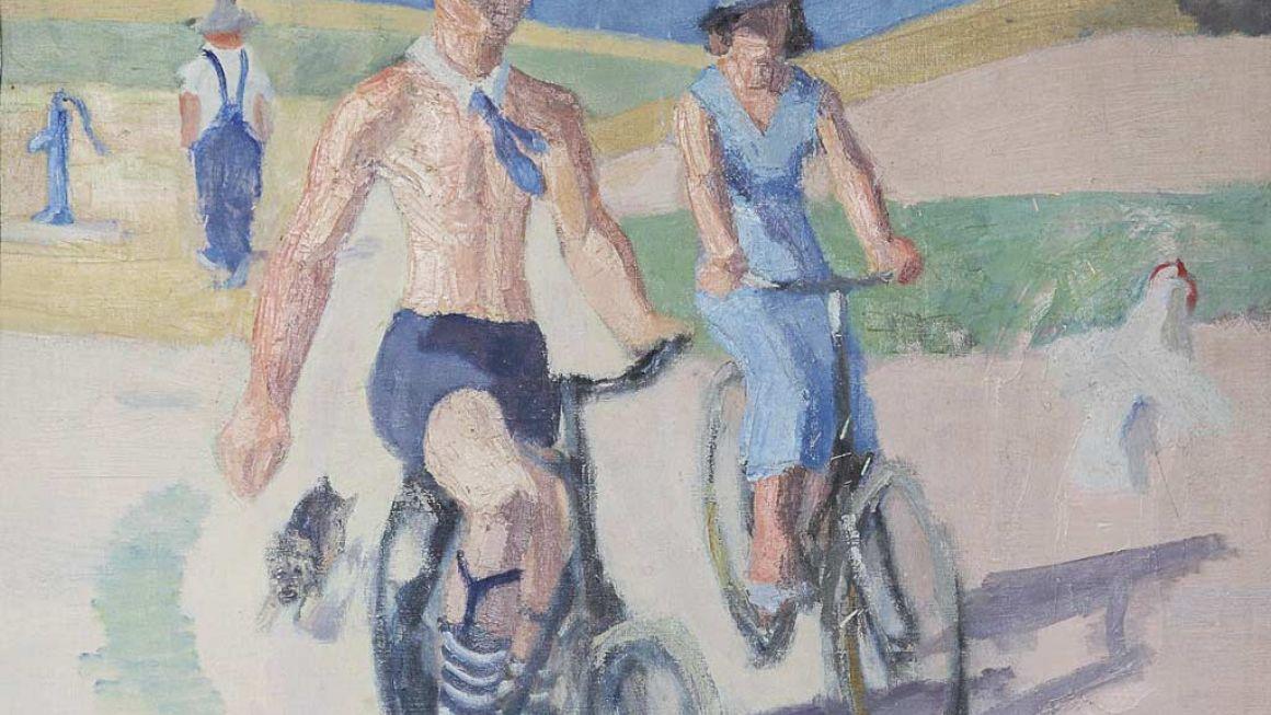Victor Brockdorff | Cyklister, 1935 | Odsherreds Kunstmuseum