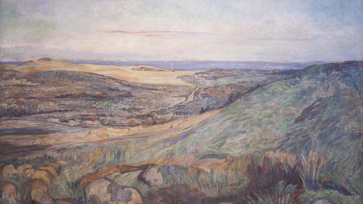 Carla Colsmann Mohr | Landskab fra Bjergene, 1922-24 | Odsherreds Kunstmuseum