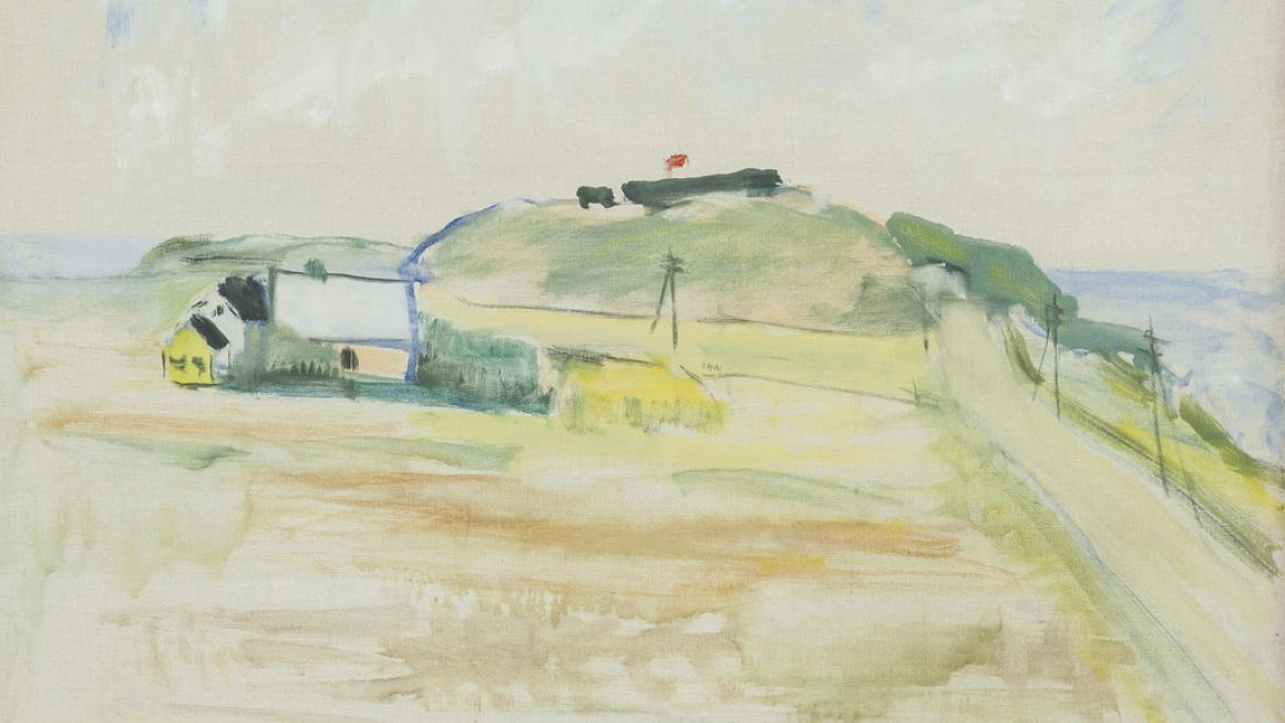 Lauritz Hartz | Sommerlandskab, Gniben, 1953 | Odsherreds Kunstmuseum