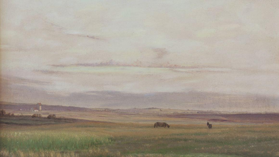 Vilhelm Kyhn | Juniaften, Rørvig Kirke, 1890 | Odsherreds Kunstmuseum