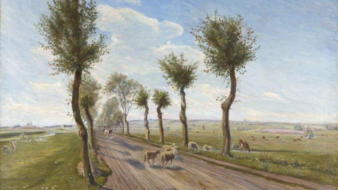 Theodor Philipsen | Landevej ved Fårevejle, 1901 | Odsherreds Kunstmuseum
