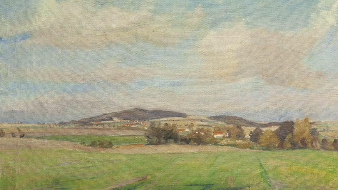 Troels Trier | Udsigt mod Vejrhøj, 1947 | Odsherreds Kunstmuseum